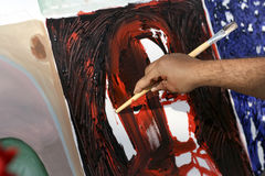 Artista Painting Fotografie Stock Libere da Diritti