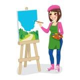 Artista Painting Park Fotos de Stock Royalty Free