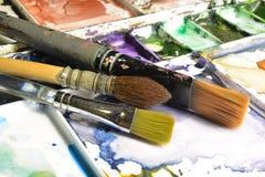 Artista Pallete imagen de archivo libre de regalías