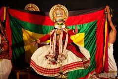 Artista Performing de Kathakali Foto de archivo libre de regalías