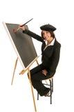 Artista que começa com uma lona em branco Imagens de Stock Royalty Free