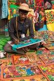 Artista que cria artigos do ofício Fotografia de Stock