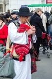 Artista rumeno che esegue il giorno di San Patrizio Fotografie Stock