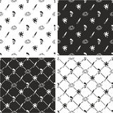 Artista Seamless Pattern Set Fotografia Stock