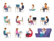Artista Set del progettista royalty illustrazione gratis