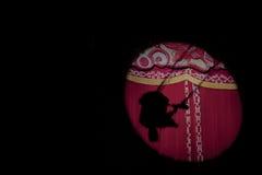 Artista Silhouette del circo Immagine Stock