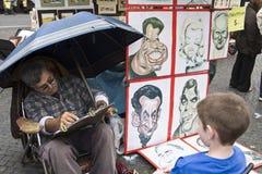 Artista sul lavoro Immagine Stock
