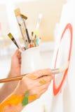 Artista sul lavoro Fotografie Stock