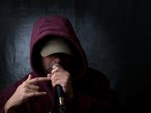 Artista urbano - rapper imagens de stock
