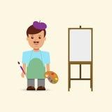 Artista y caballete del ejemplo Foto de archivo libre de regalías