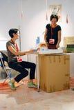 Artistas Arina Balantseva e Eugenia Veselova Fotos de Stock Royalty Free