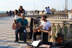 Artistas da rua - músicos Fotografia de Stock
