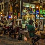 Artistas da rua nas cores Fotos de Stock