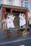 Artistas de la calle en Roma Fotos de archivo