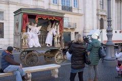 Artistas de la calle en Roma Fotografía de archivo libre de regalías