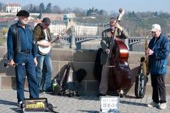 Artistas de la calle, Praga Imagen de archivo libre de regalías