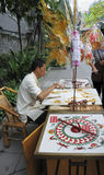 Artistas de la pintura del azúcar Fotografía de archivo