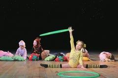Artistas de los niños del circo Imagen de archivo libre de regalías