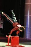 Artistas del circo chino Imágenes de archivo libres de regalías