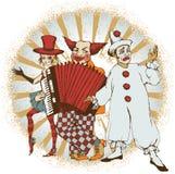 Artistas do circo ilustração royalty free