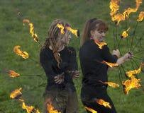 Artistas do teatro do incêndio Foto de Stock Royalty Free