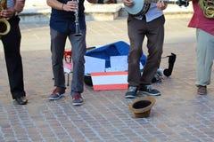 Artistas en la calle imagen de archivo