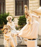 Artistas engraçados da rua Fotos de Stock Royalty Free