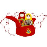 Artistas rusos de la muñeca de la jerarquización Foto de archivo