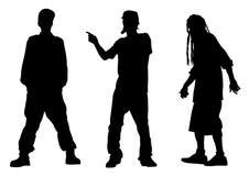 Artistas uno del hip-hop ilustración del vector
