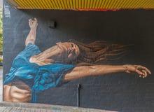 Artistas y pinturas de la calle en Berlín fotografía de archivo libre de regalías