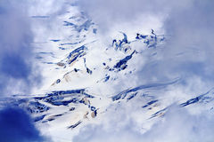 Artiste abstrait Point Washington de Glaciers Through Clouds de Baker de bâti Image stock