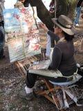 Artiste au travail Image libre de droits