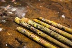 Artiste Brushes Photographie stock libre de droits