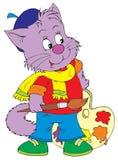 Artiste de chat (clip-art de vecteur) Image libre de droits