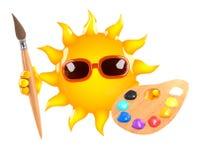 artiste de 3d Sun illustration de vecteur