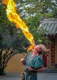 Artiste de flamme Image libre de droits
