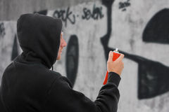 Artiste de graffiti Photographie stock libre de droits