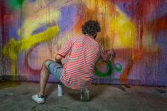 Artiste de Graffitti Photo stock
