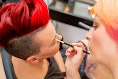 Artiste de maquillage Photographie stock