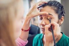 Artiste de maquillage Photos libres de droits