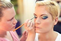Artiste de maquillage Photographie stock libre de droits