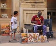 Artiste de rue Images stock