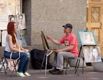 Artiste de rue Photos stock