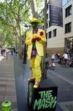Artiste de rue chez Ramblas à Barcelone, Espagne photos stock