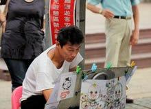 Artiste de rue, peintre Photographie stock libre de droits