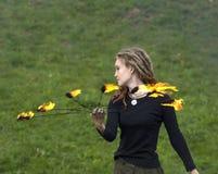 Artiste de théâtre d'incendie Photos libres de droits