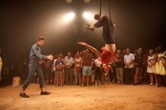 Artiste de Trapeze Photos libres de droits