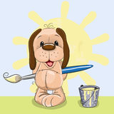 Artiste Dog illustration stock
