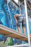 Artiste et graffiti photo libre de droits
