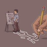 Artiste idiot illustration libre de droits